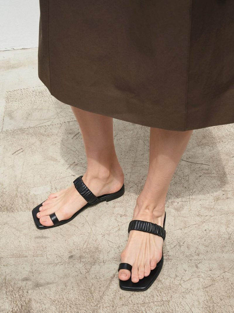 008 Toe Ring Slide Sandals 5 Colors