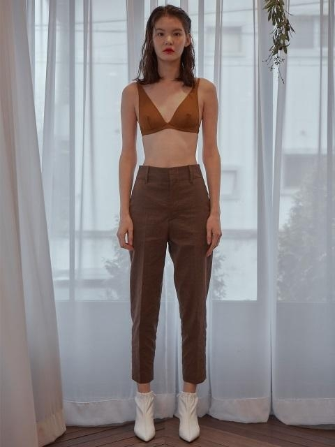 111 Modern Linen Pants Brown