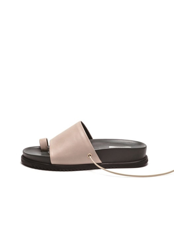 2 Way Flat Sandal - Khaki Grey