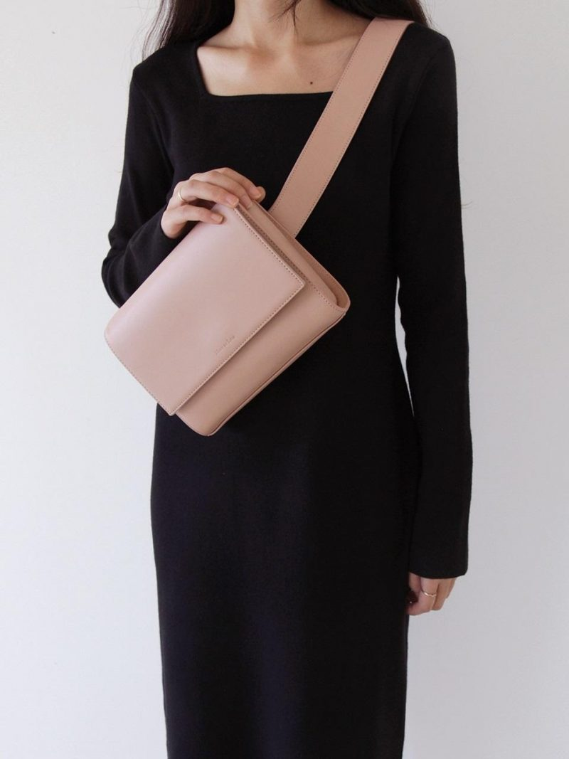 3-Way Leather Bag_Nude Pink