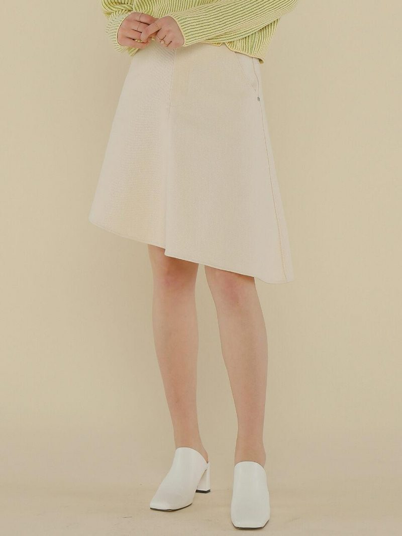 A Flare Cotton Skirt_Ivory