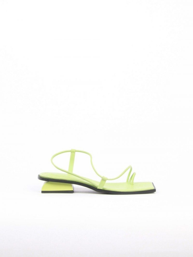 Aida Sandals Leather Lime