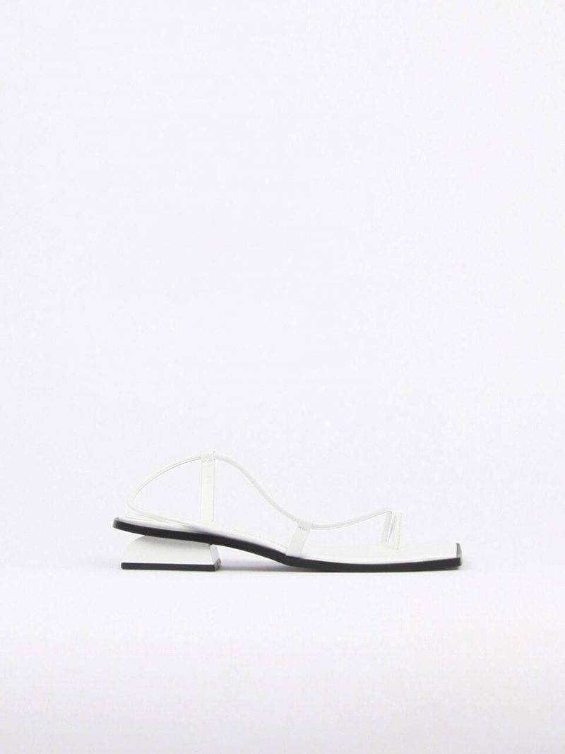 Aida Sandals Leather White