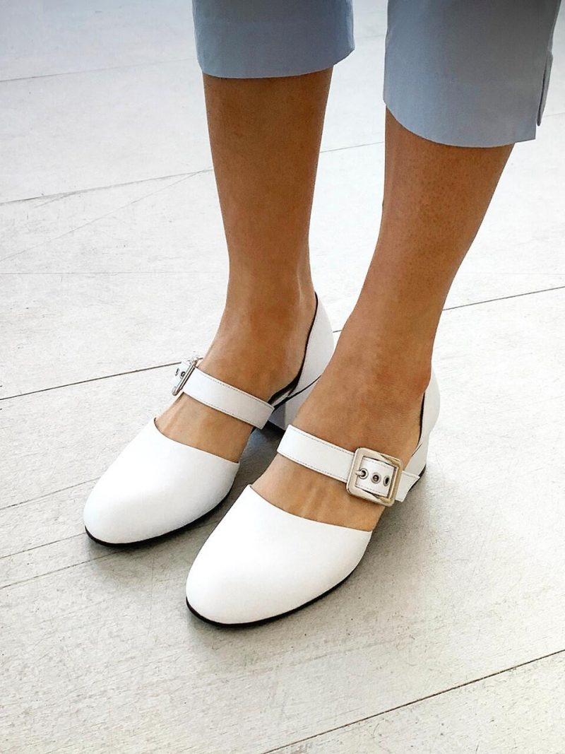 Almond Mary-Jane Sandals_FAC-BS_White