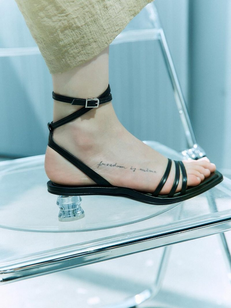 Ankle Strap Sandals_Black LMS207
