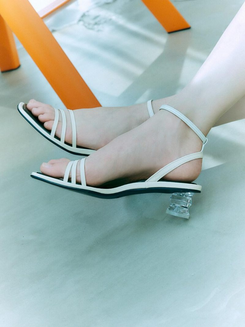 Ankle Strap Sandals_Off White LMS207
