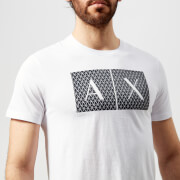 Armani Exchange Men's Box Logo T-Shirt - White - S - White