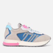 Ash Women's Tiger Running Style Trainers - Grey/White/Blue - UK 6