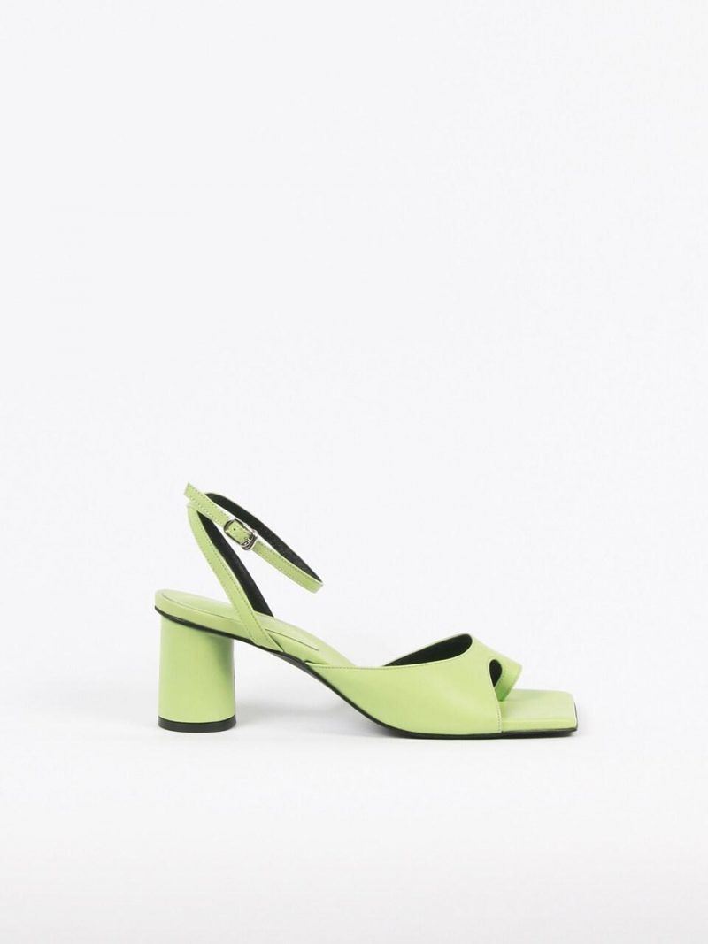 Aveline Sandals Leather Lime