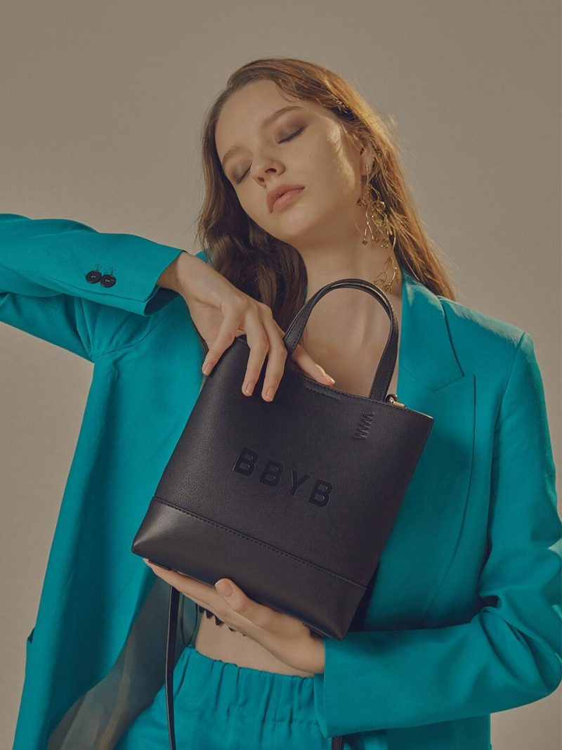 BRUNI Small Tote Bag Jade Black