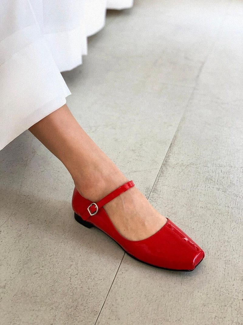 Ballet Mary Janes_FAC-BM_Glossy Red