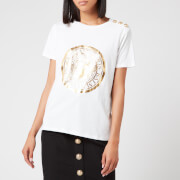 Balmain Women's 3 Button Metallic Coin T-Shirt - White - XS