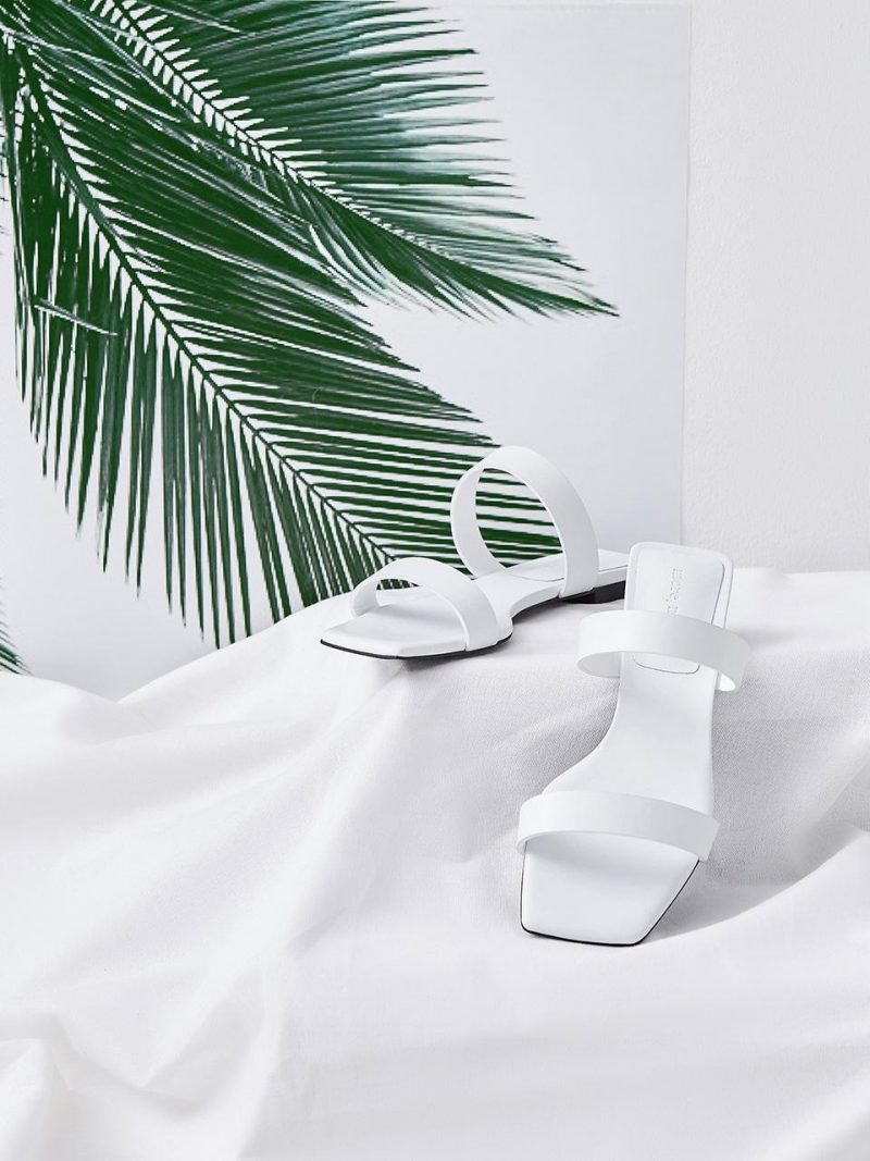 Basic Cutting Strap Mule_MM070_Off White