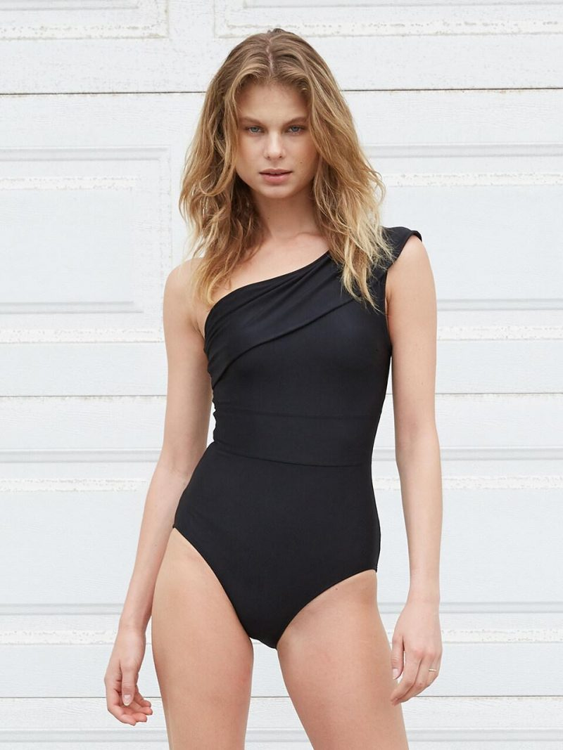 Belted Swimsuit Black