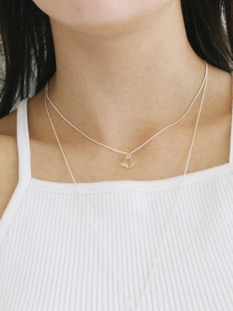 Bohemian Glass Necklace - Clear
