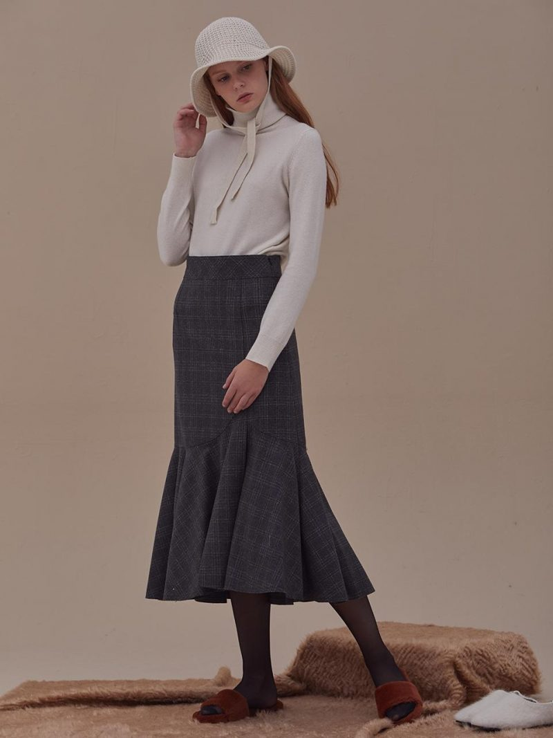 CLAIRE WOOL SKIRT - 3COLOR