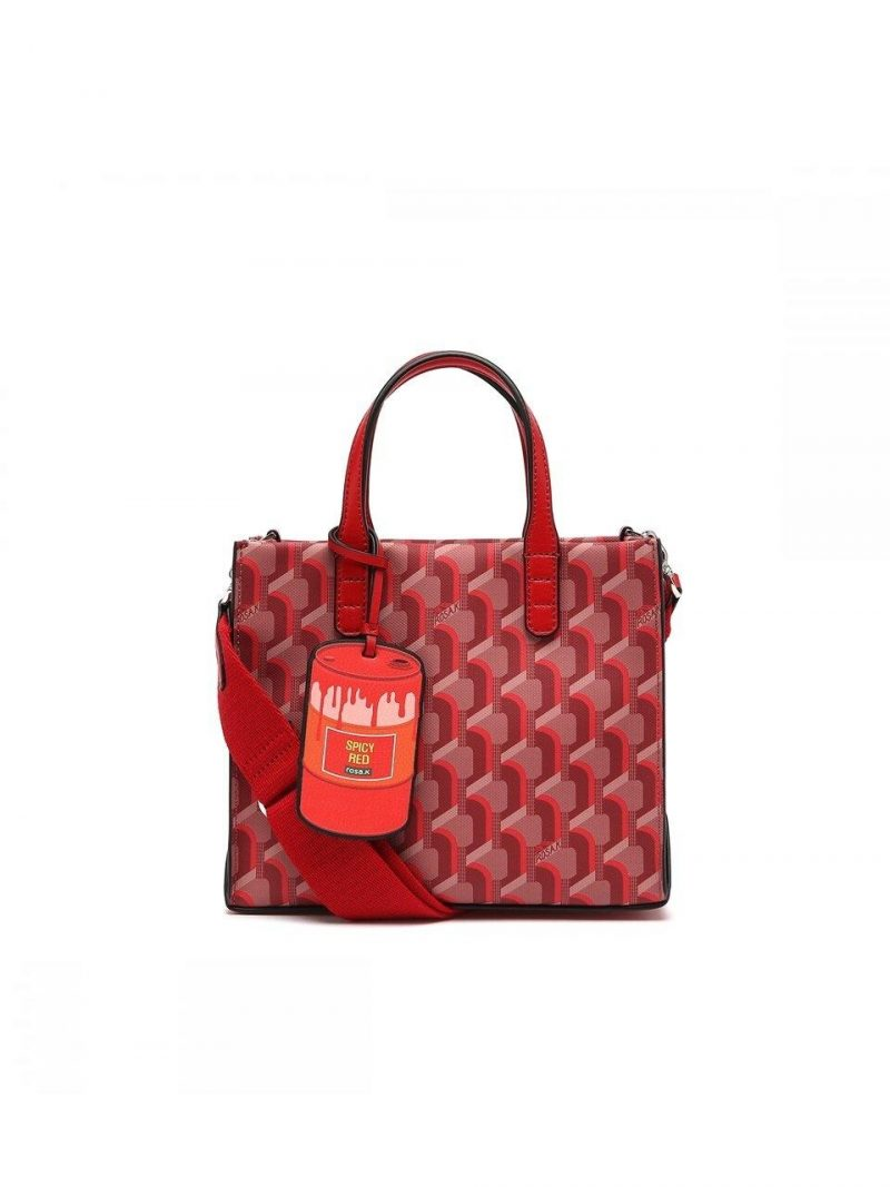 Canvas Monogram Day Tote S Red