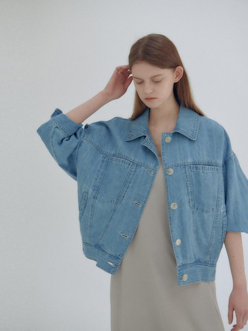 Denim Shirt Jacket Light Blue