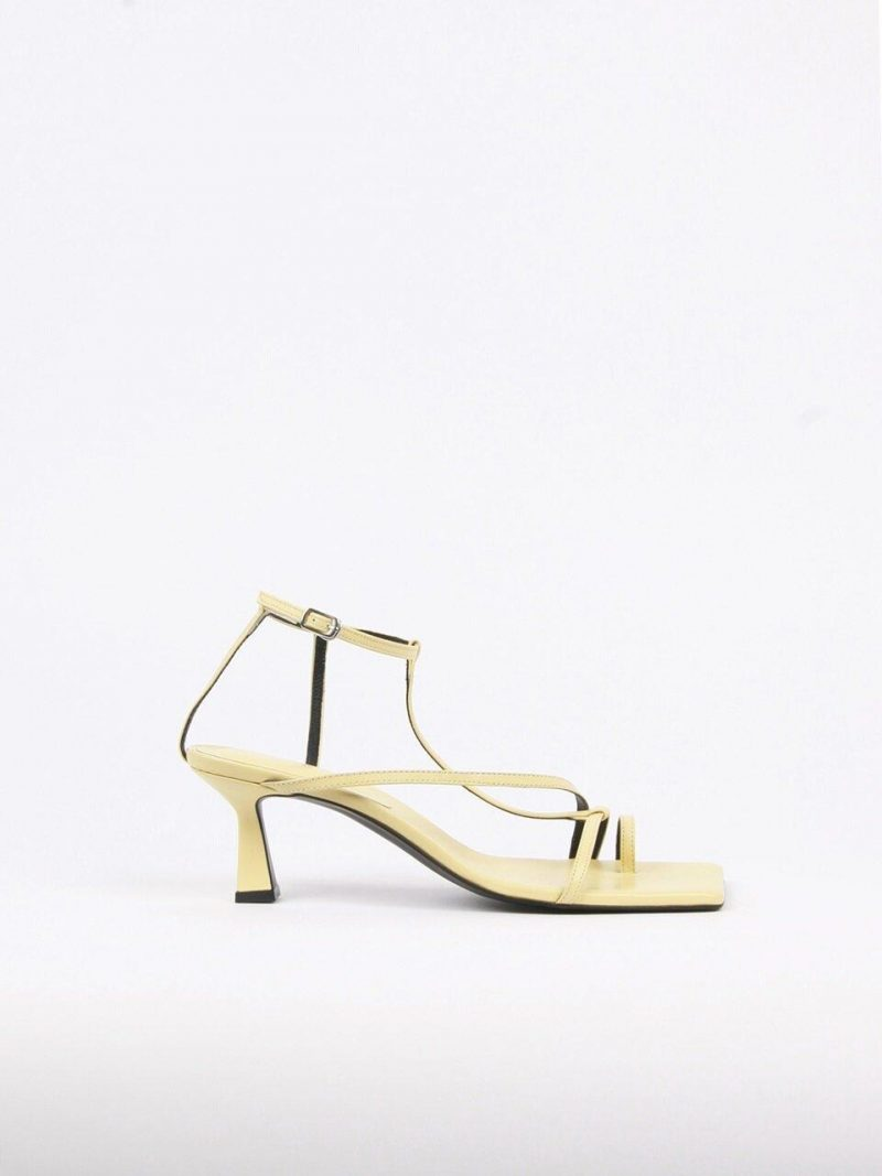 Didie Sandals Leather Lemon Yellow