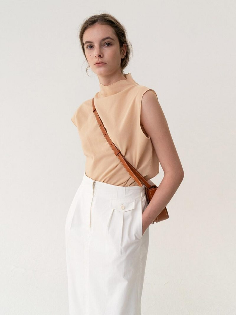 ESSENTIAL Asymmetry Top Apricot