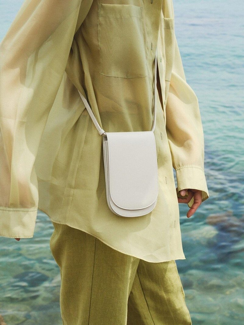 Elba Flat Bag - Pale Stone