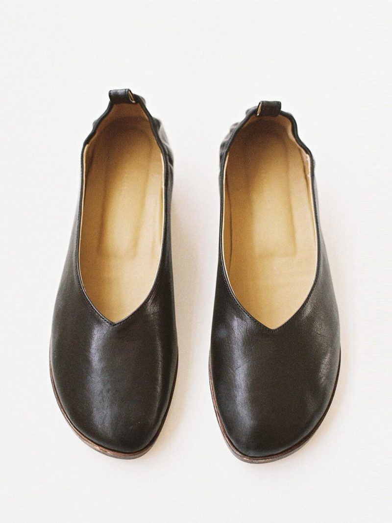 Essential Italian Calf Leather Flat Black
