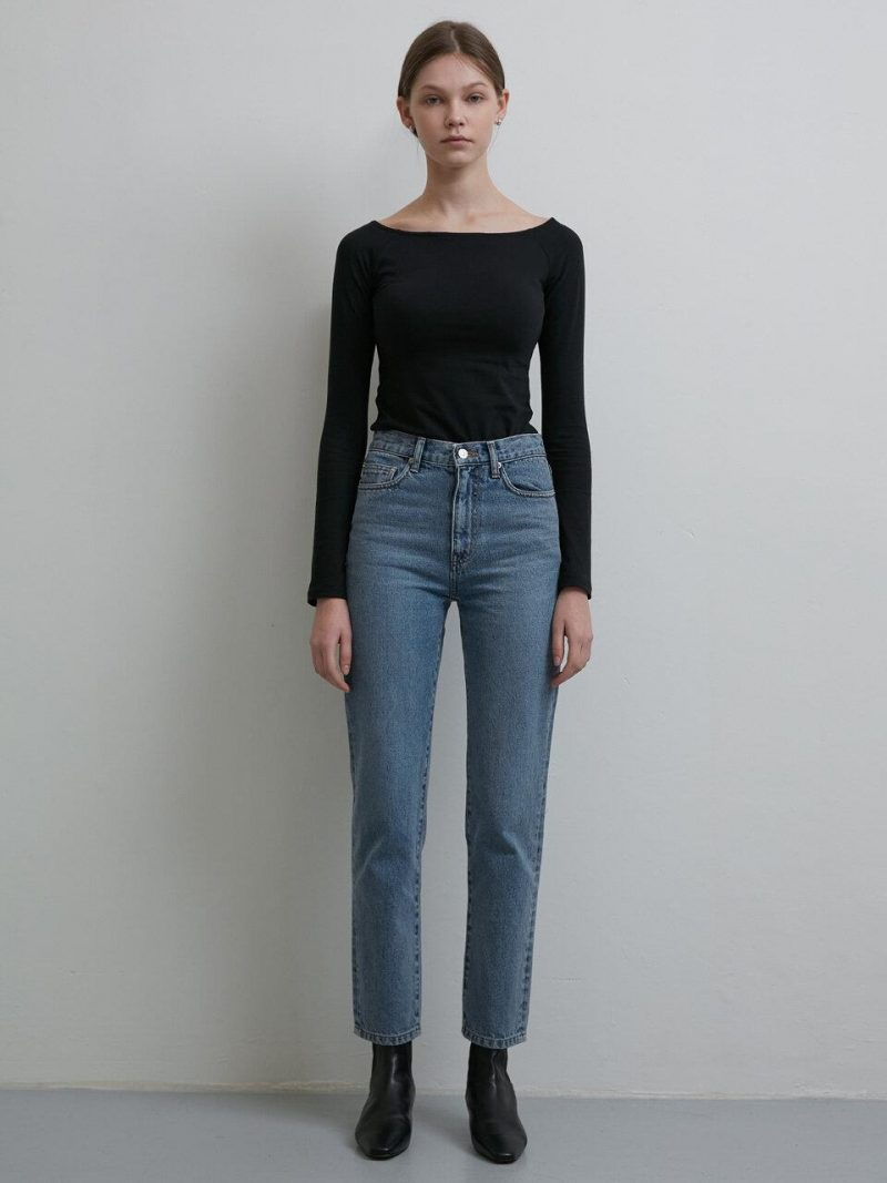 Essential Straight Jeans Blue Denim