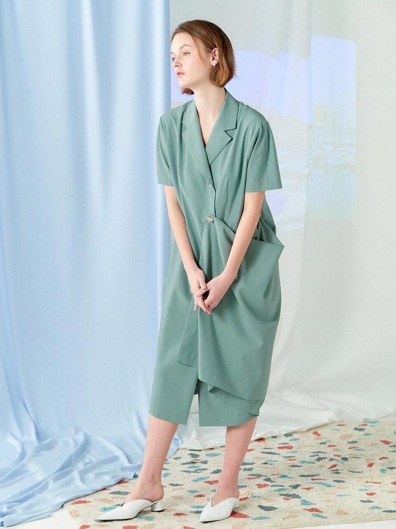 Exclusive - Flare Two Way Dress_Green