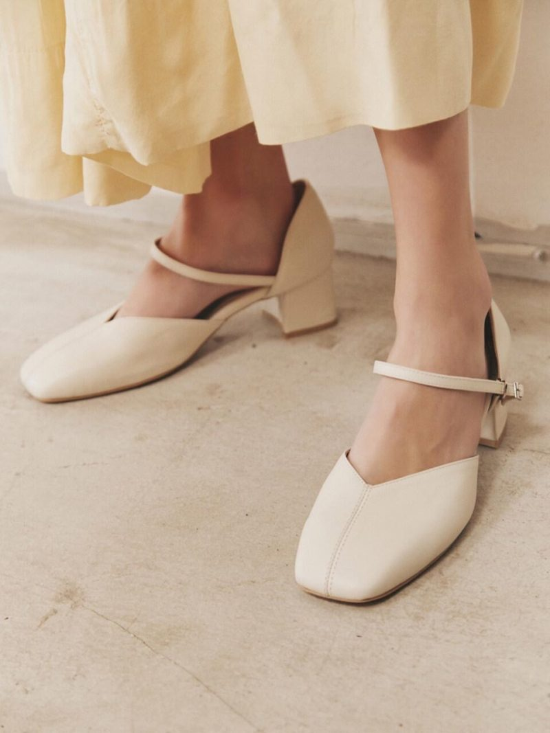 [Exclusive] May Pumps Ivory Black