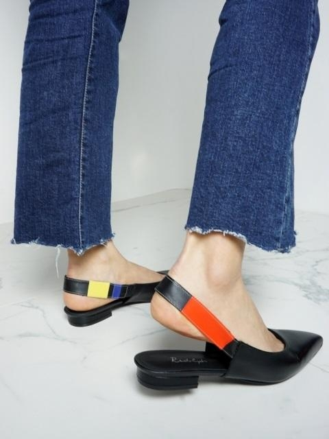 Flat Slingback In Three Primary Colors And Black