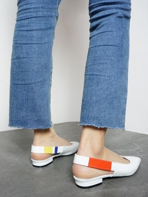 Flat Slingback In Three Primary Colors And White
