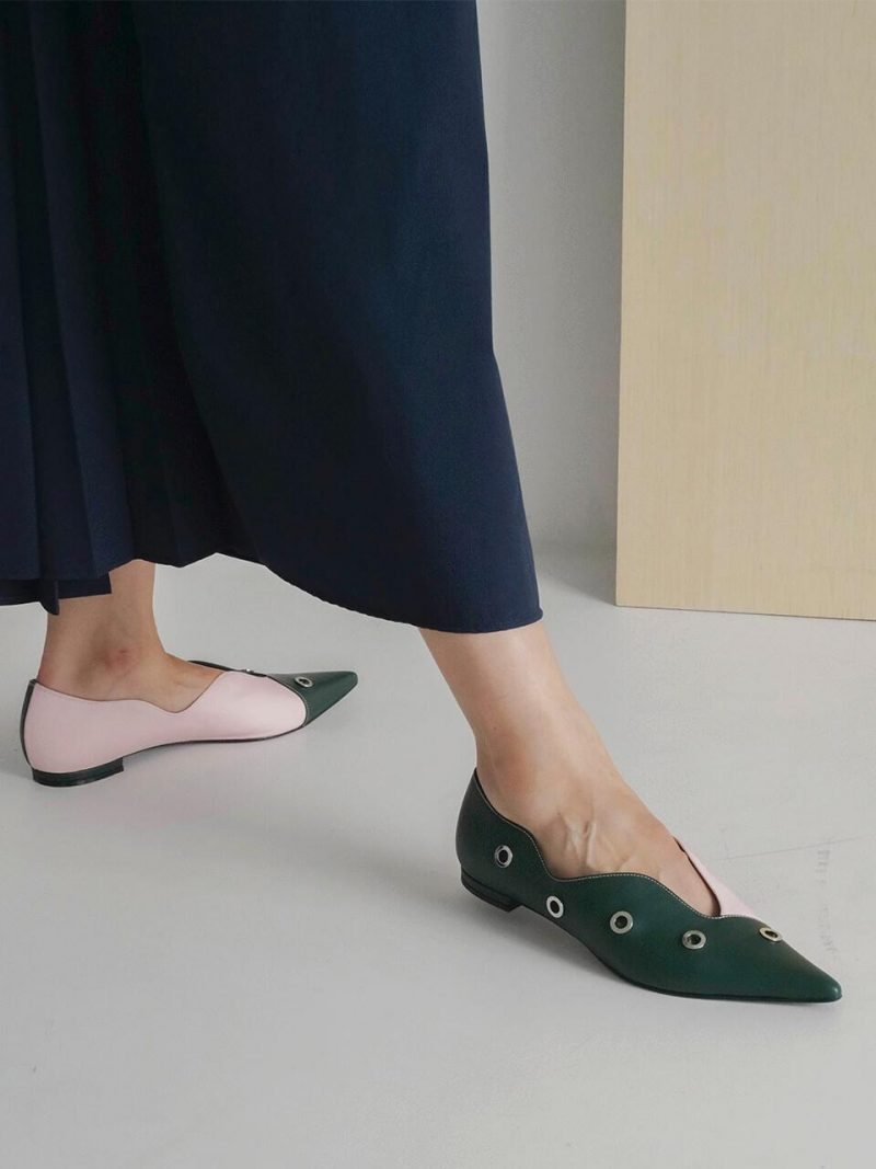 Floral Flat Green_Pink