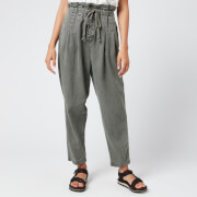 Free People Women's Margate Pleated Trousers - Moss - S