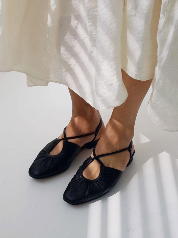 French Ballet Shoes Black