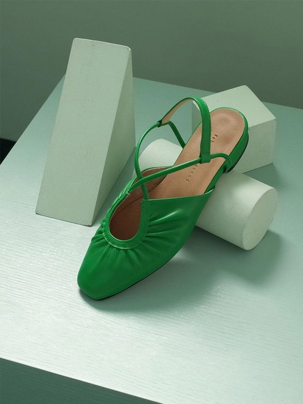 French Ballet Shoes Green