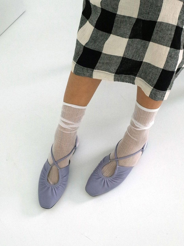 French Ballet Shoes Lavender