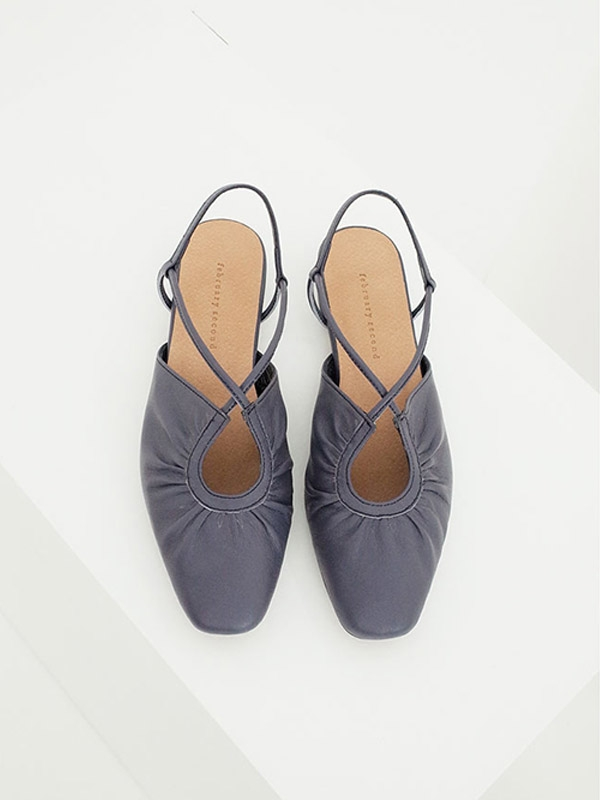 French Ballet Shoes Navy