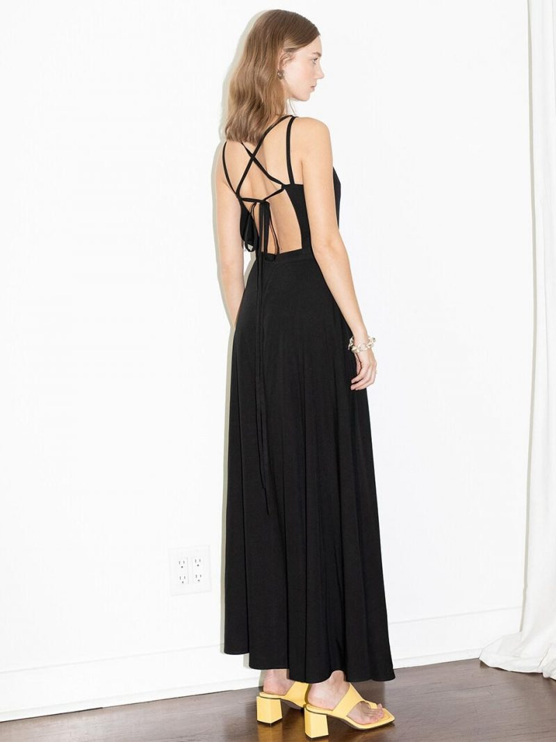 HUNTINGTON BEACH Square Neck Backless Maxi