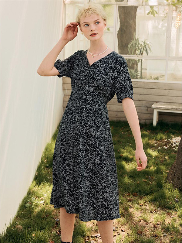 Juliette Button Dress_Black