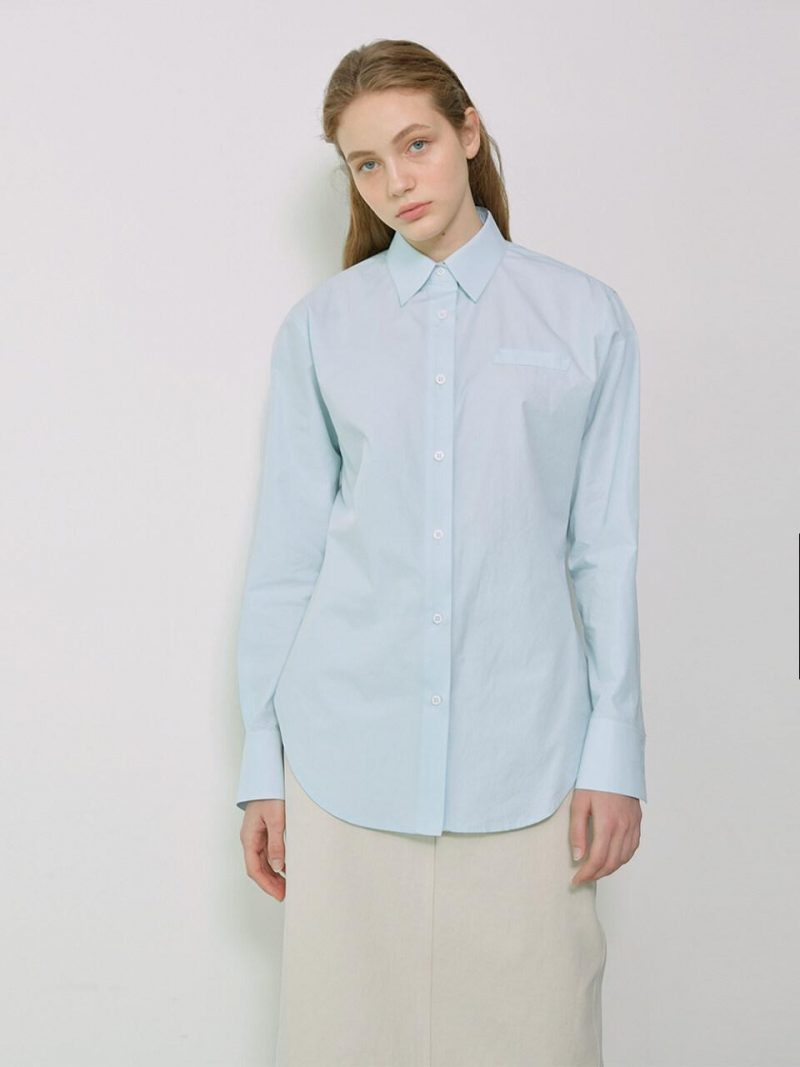 LENNY Back Detailed Slim Fit Shirt Sky Blue