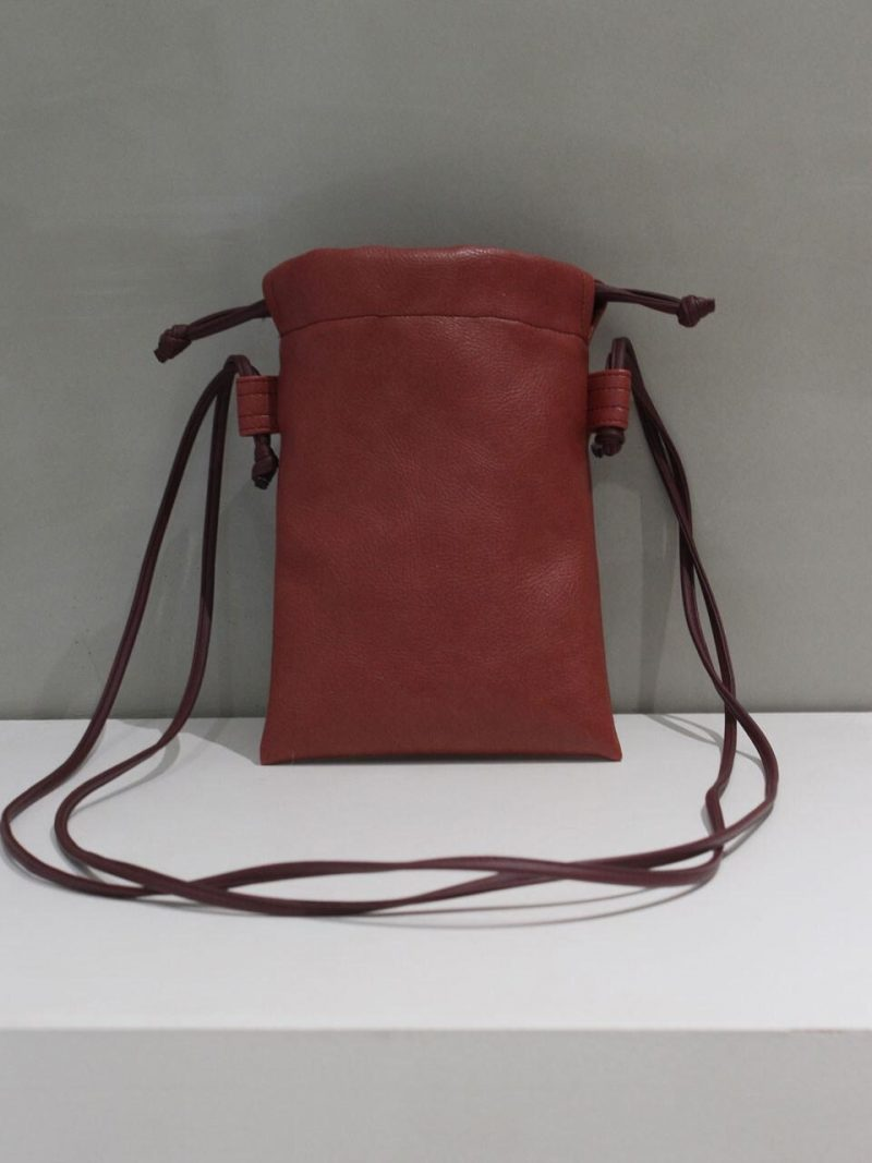 Leather Square Bag Red