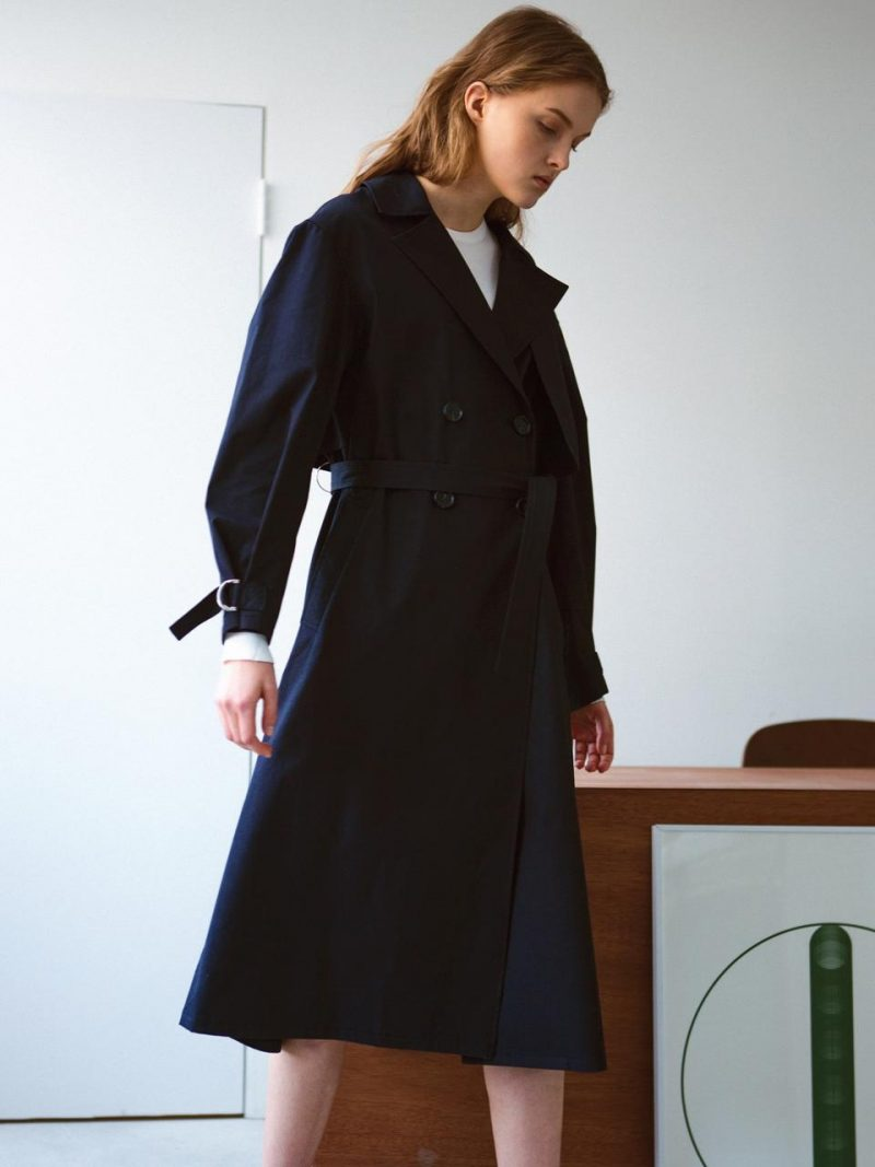 Light Weight Trench Coat Navy
