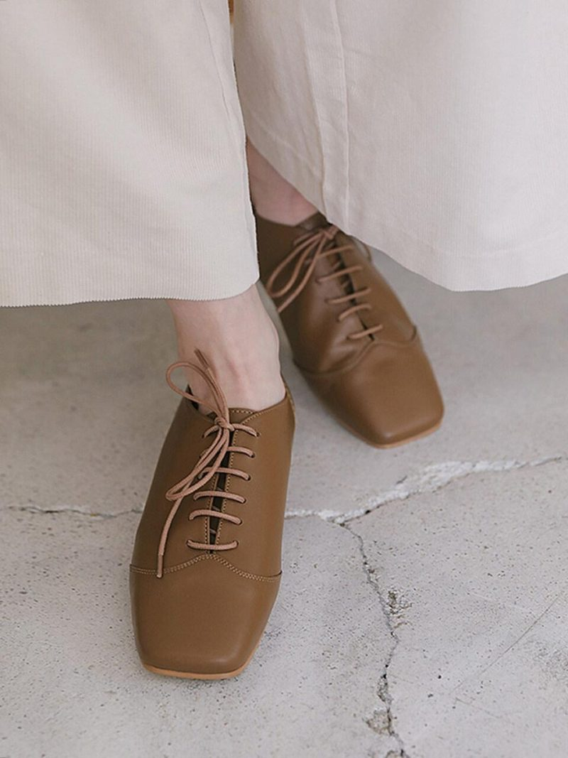 Main Lace Up Loafer_Camel