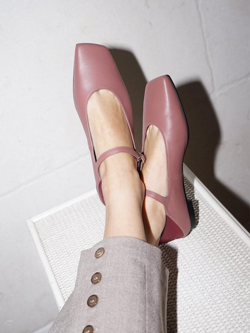 Melody Mary Jane Babouche / YY9A-F11 Rose Pink+Bur