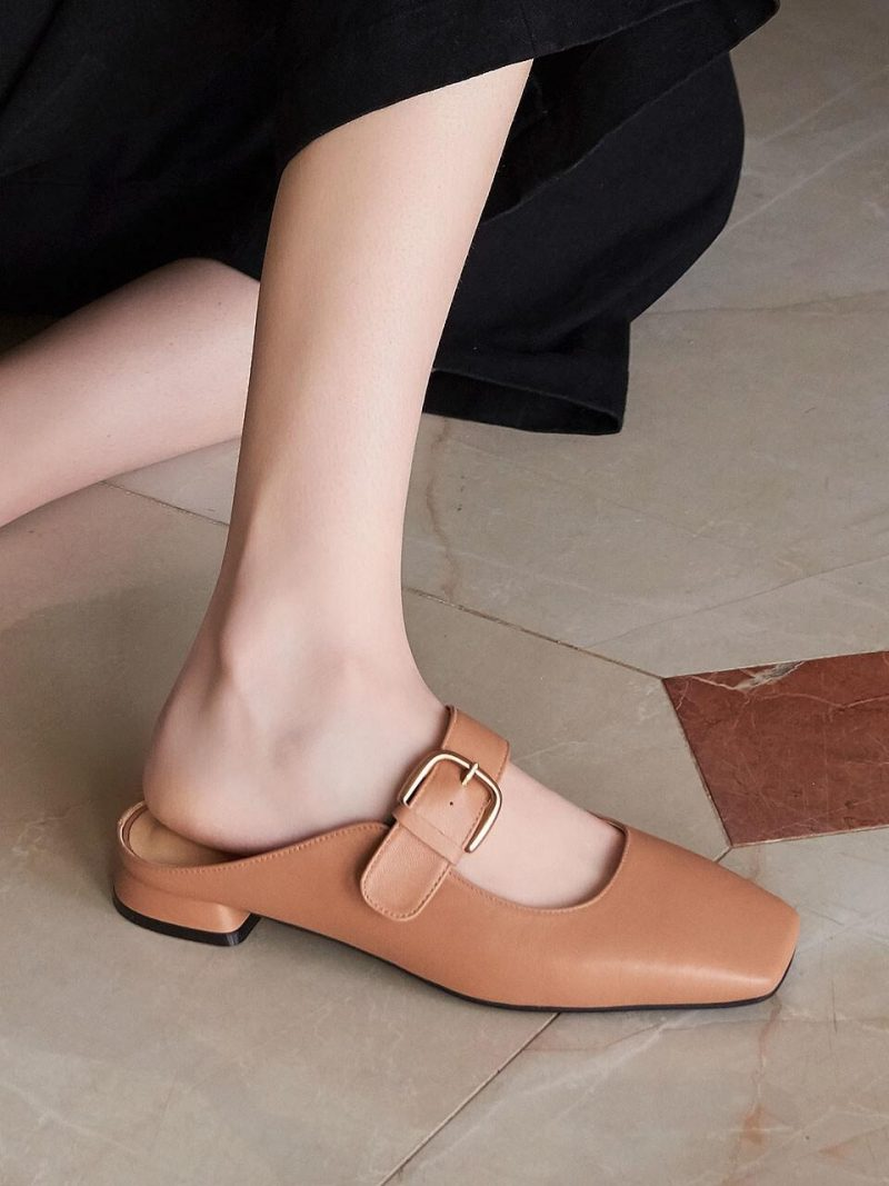 N20-S174_Backless Mary-Jane Loafer_Taupe