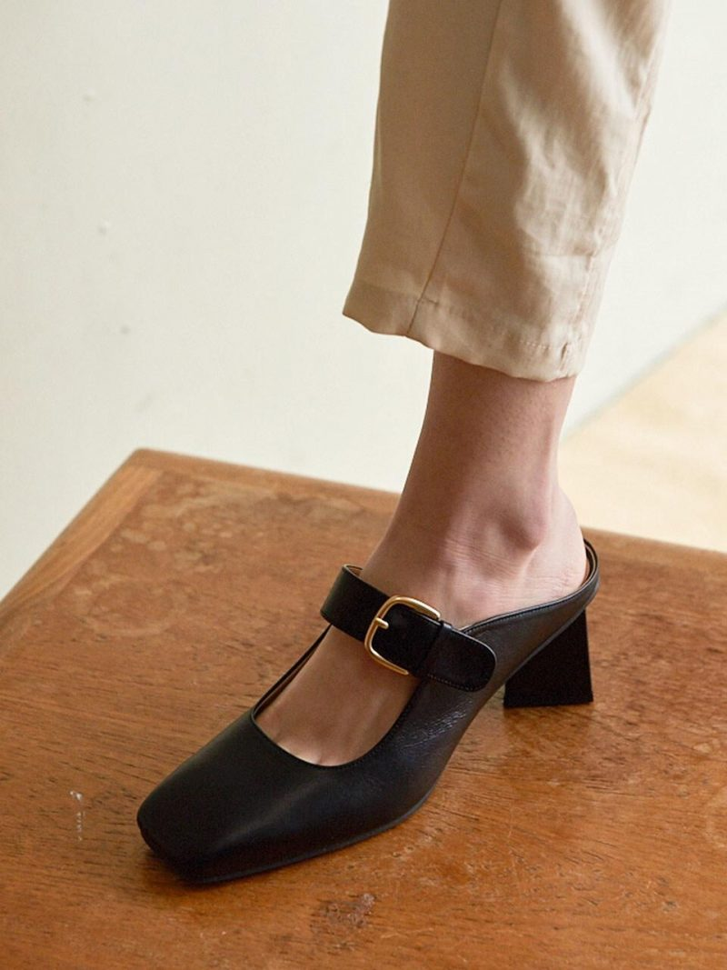N20-S175_Mule Shoes_Black