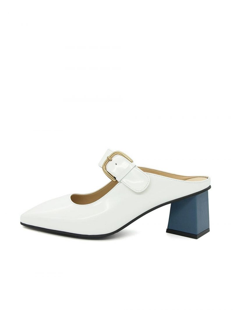 N20-S175_Mule Shoes_White