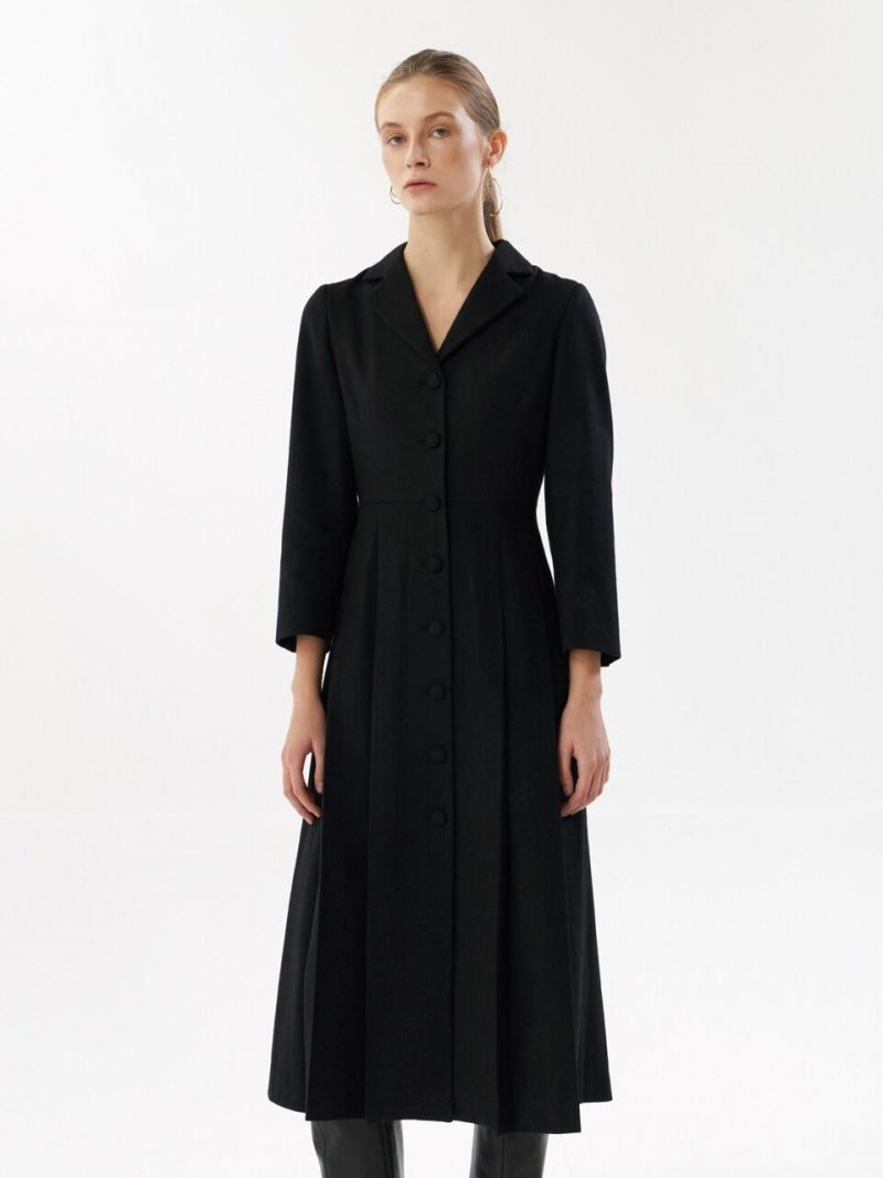NTW Wool Pleated Dress_2color