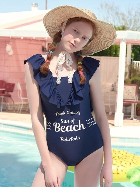 OP-18372 SHIRRING V ZONE ONEPIECE SWIMSUIT NAVY