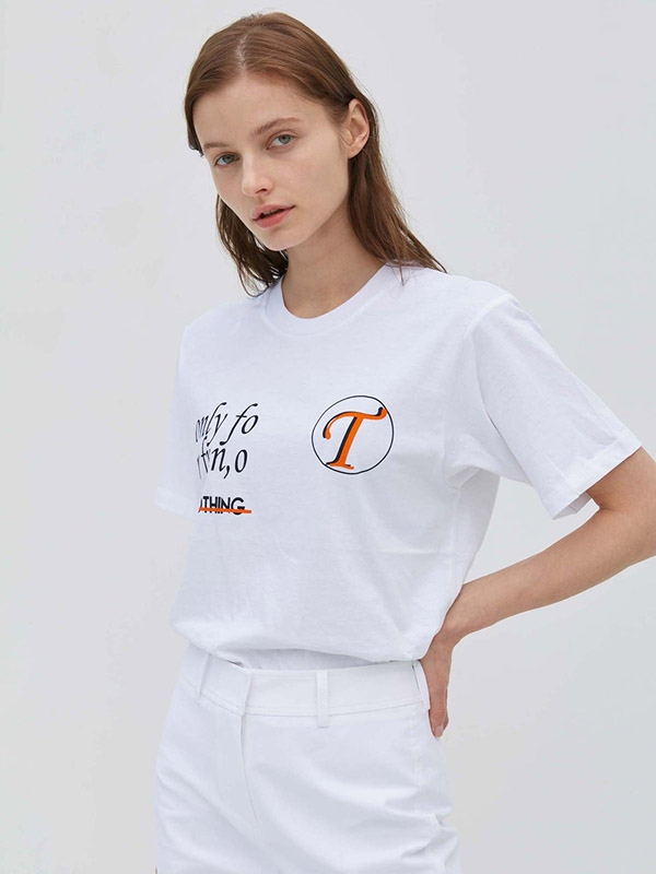 Only For T-shirt White